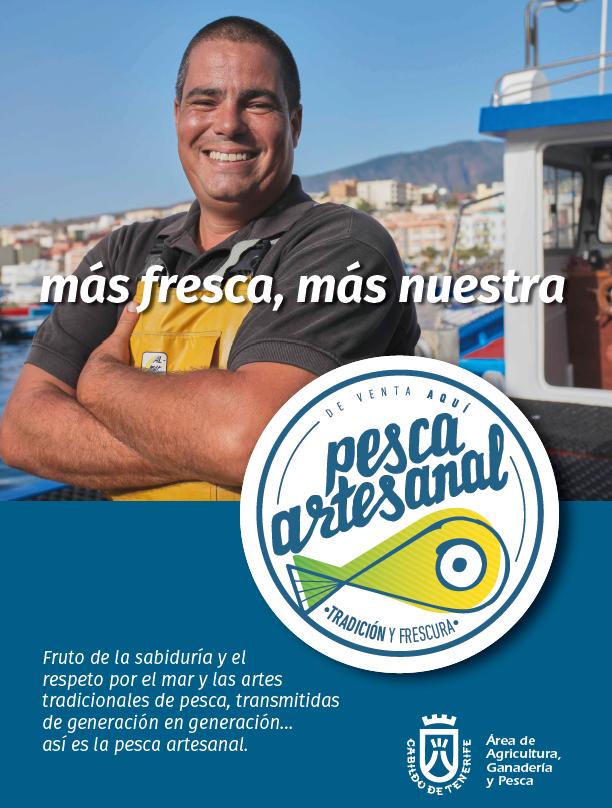 La marca Pesca Artesanal, identifica y garantiza la procedencia y legalidad del pescado capturado en Canarias por los profesionales del mar.