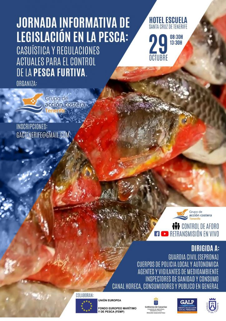 Pesca Furtiva: derechos y deberes de pescadores profesionales y deportivos el jueves 29 de octubre en Santa Cruz de Tenerife.