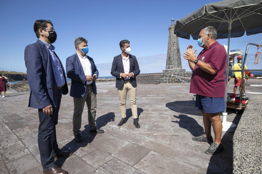 Pedro Martín: si todo sale según lo previsto, Bajamar contará con el nuevo dique antes de que finalice el año